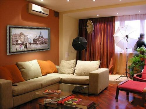 интерьер зала в квартире фото