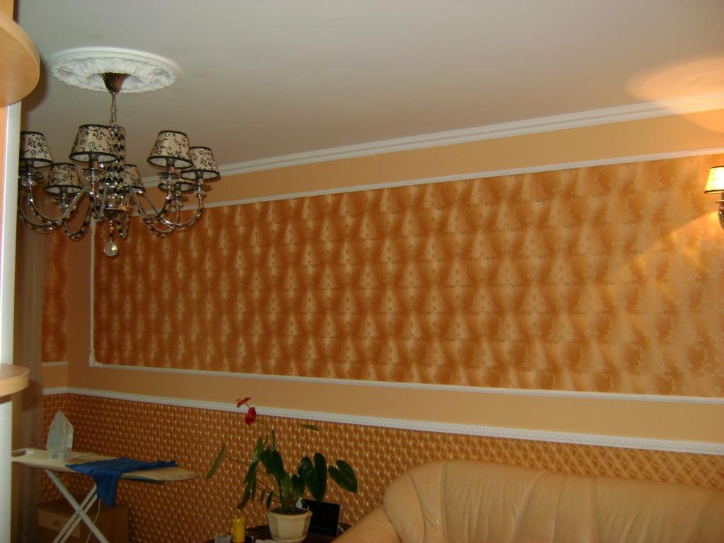 Дизайн зала в квартире обои