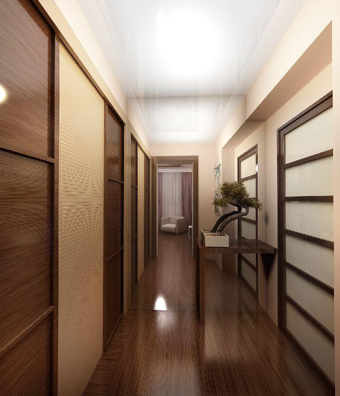 Длинный узкий коридор интерьер